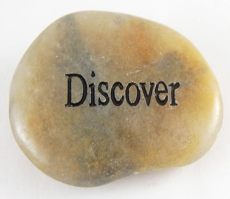 Discover - Engraved River Rock