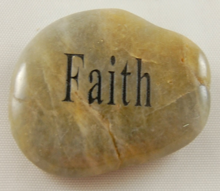 Faith - Engraved River Rock