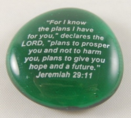 For I know the plans...Jeremiah 29:1 - Imprinted Scripture Stone