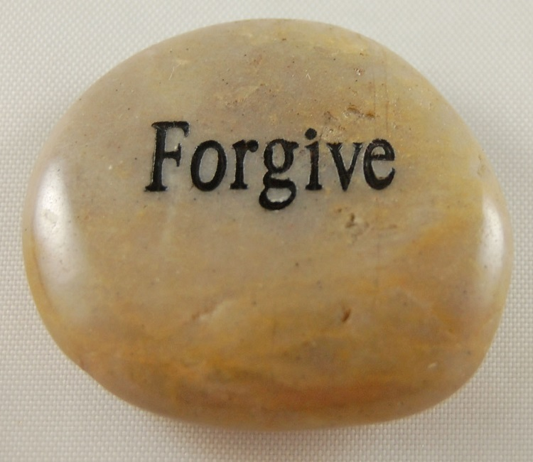 Forgive - Engraved River Rock