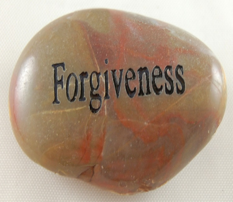 Forgiveness - Engraved River Rock