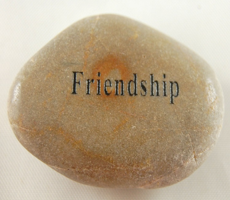 Friendship - Engraved River Rock