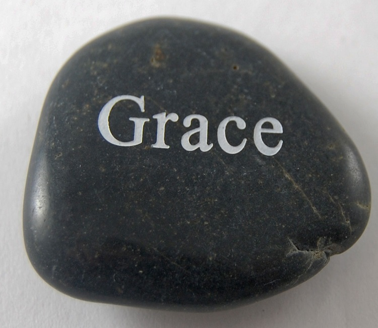 Grace - Engraved River Rock