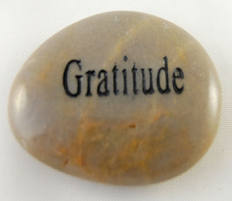 Gratitude - Engraved River Rock