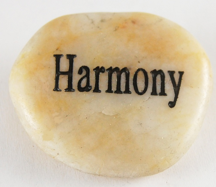 Harmony - Engraved River Rock