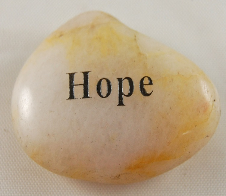 Hope - Engraved River Rock