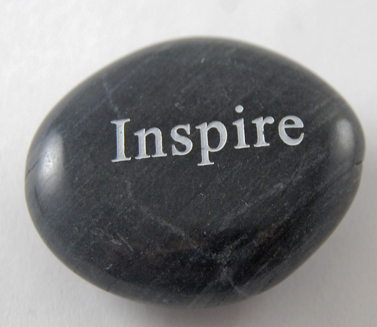 Inspire - Engraved River Rock