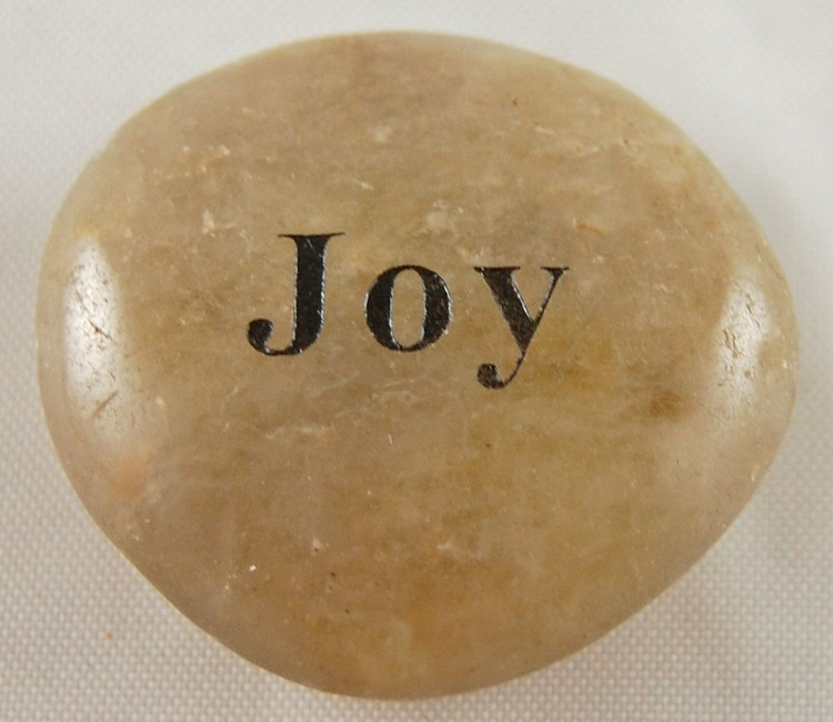 Joy - Engraved River Rock