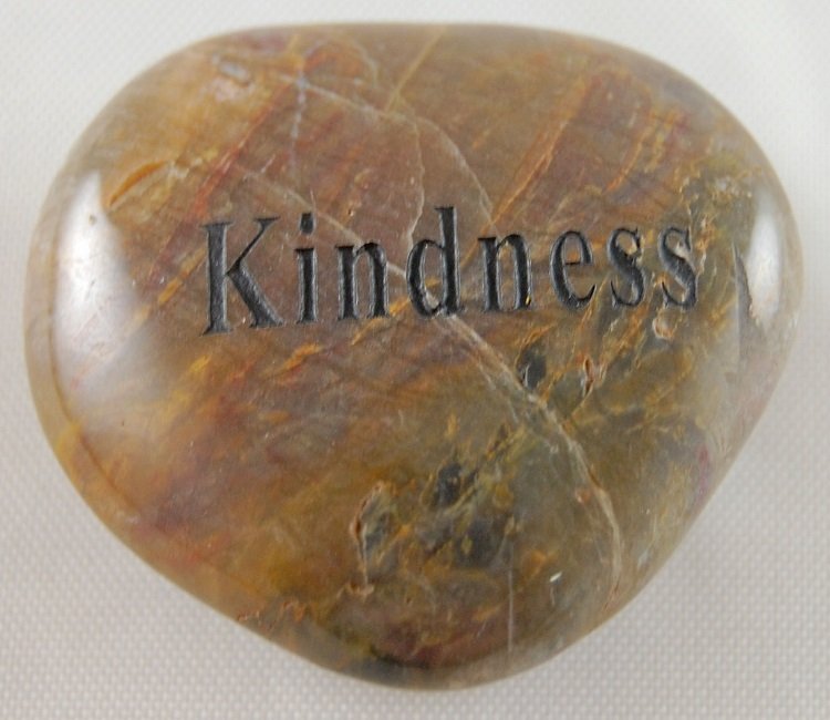 Kindness - Engraved River Rock