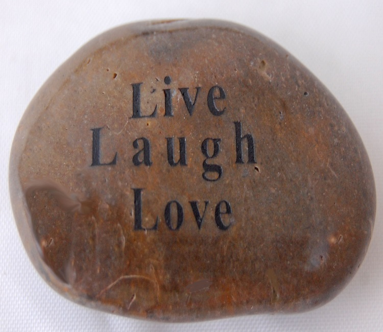 Live Laugh Love - Engraved River Rock