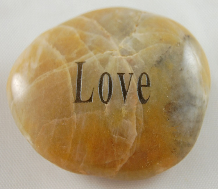 Love - Engraved River Rock