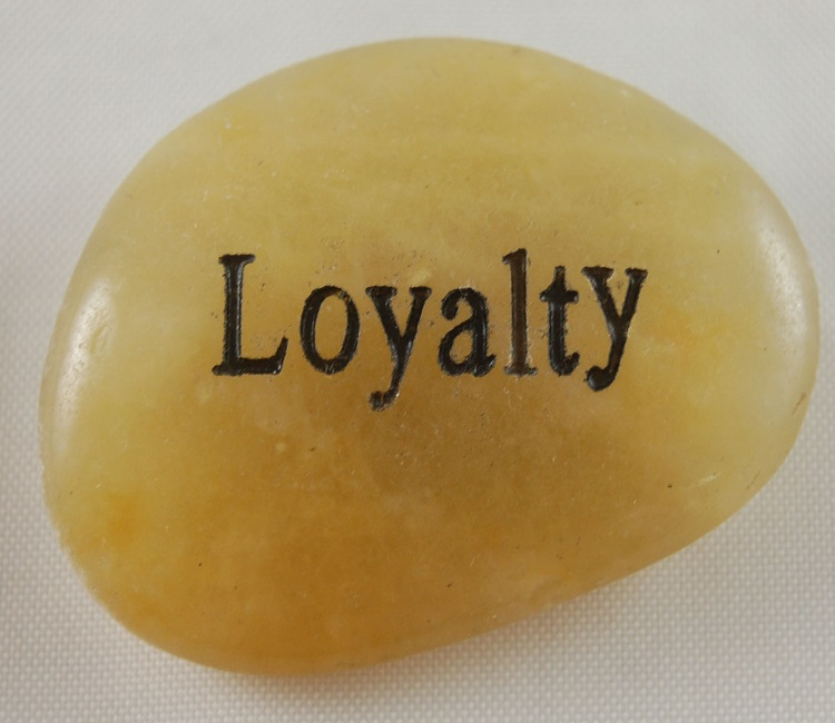 Loyalty - Engraved River Rock