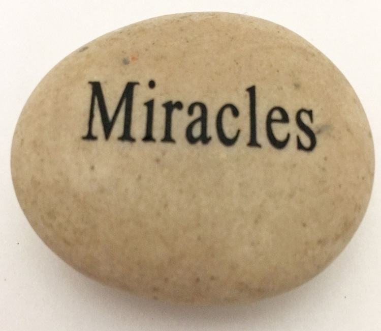 Miracles - Engraved River Rock