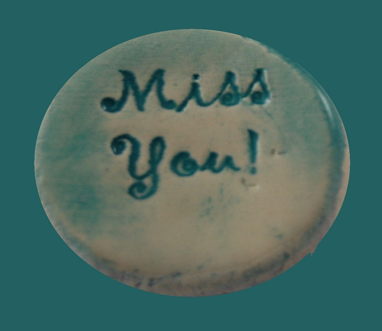 Miss You - Ceramic Word Stone