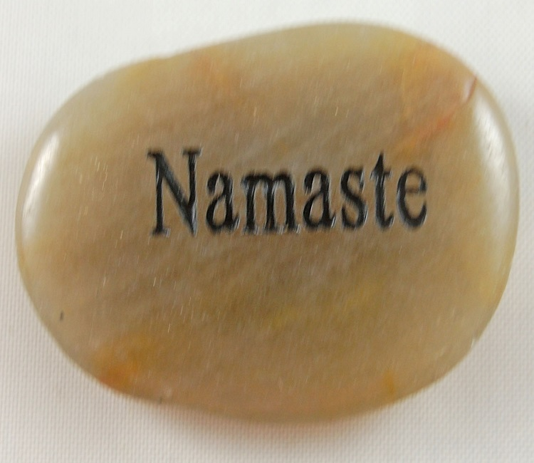 Namaste - Engraved River Rock