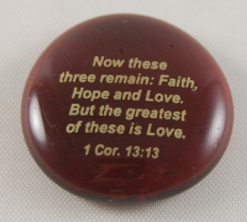 Now these three...1 Cor. 13:13 - Imprinted Scripture Stone