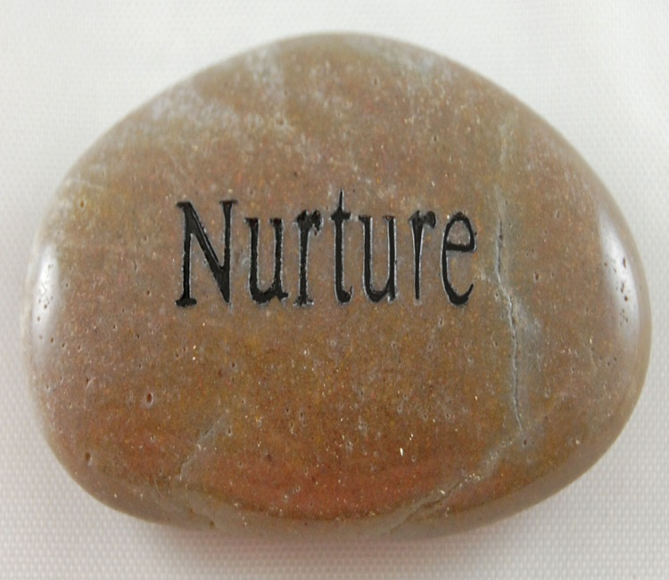 Nurture - Engraved River Rock