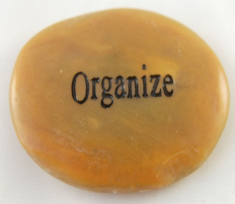 Organize - Engraved River Rock