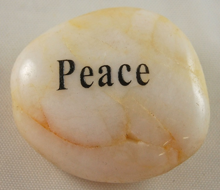 Peace - Engraved River Rock