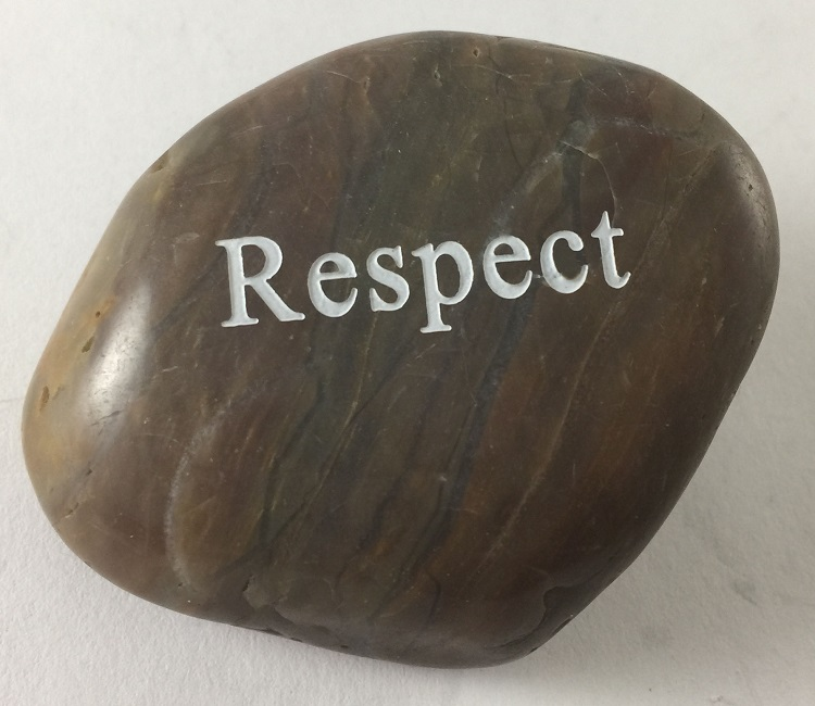 Respect - Engraved River Rock