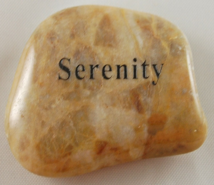 Serenity - Engraved River Rock