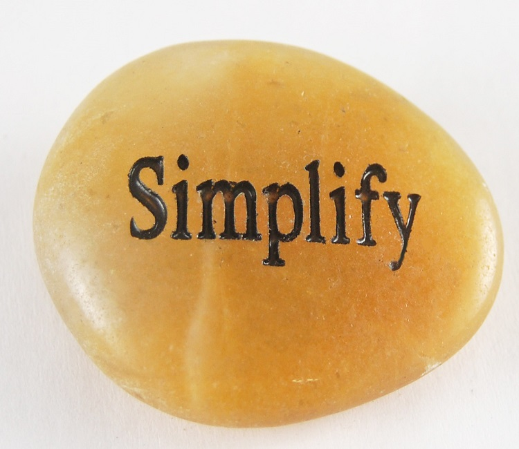 Simplify - Engraved River Rock