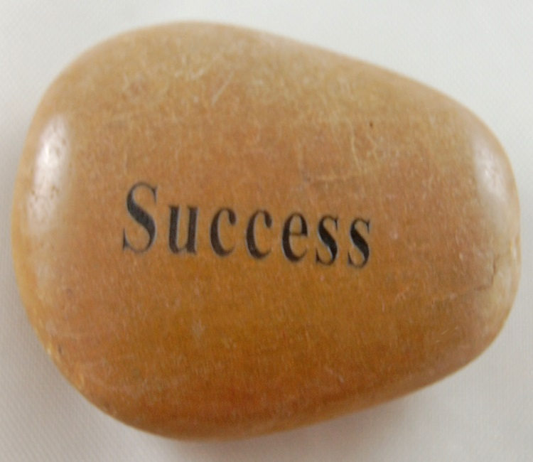 Success - Engraved River Rock