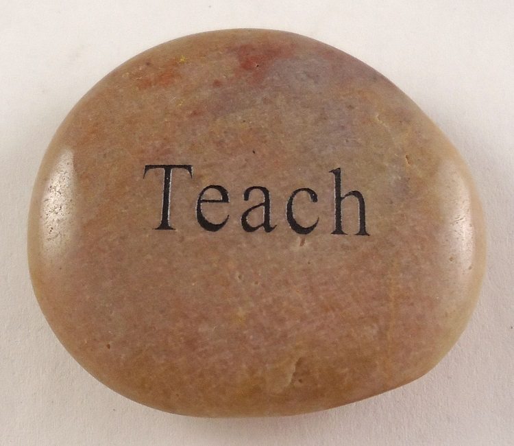Teach - Engraved River Rock
