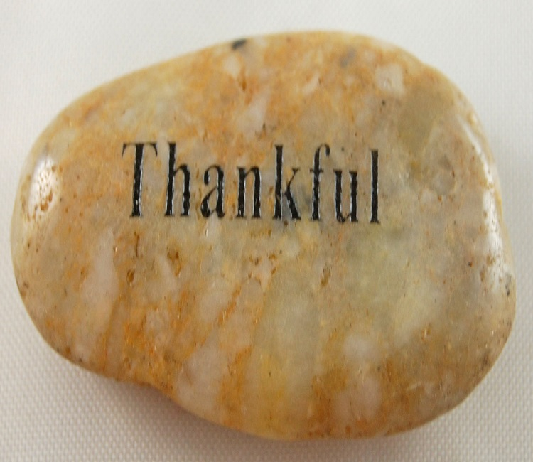 Thankful - Engraved River Rock
