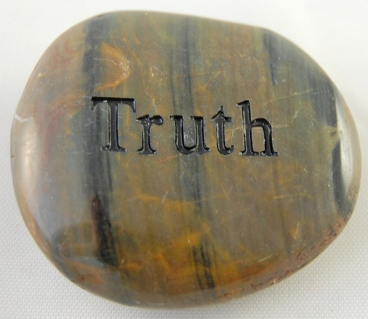 Truth - Engraved River Rock