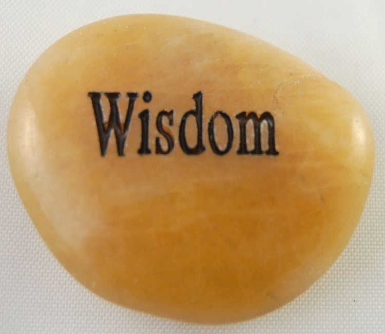 Wisdom - Engraved River Rock