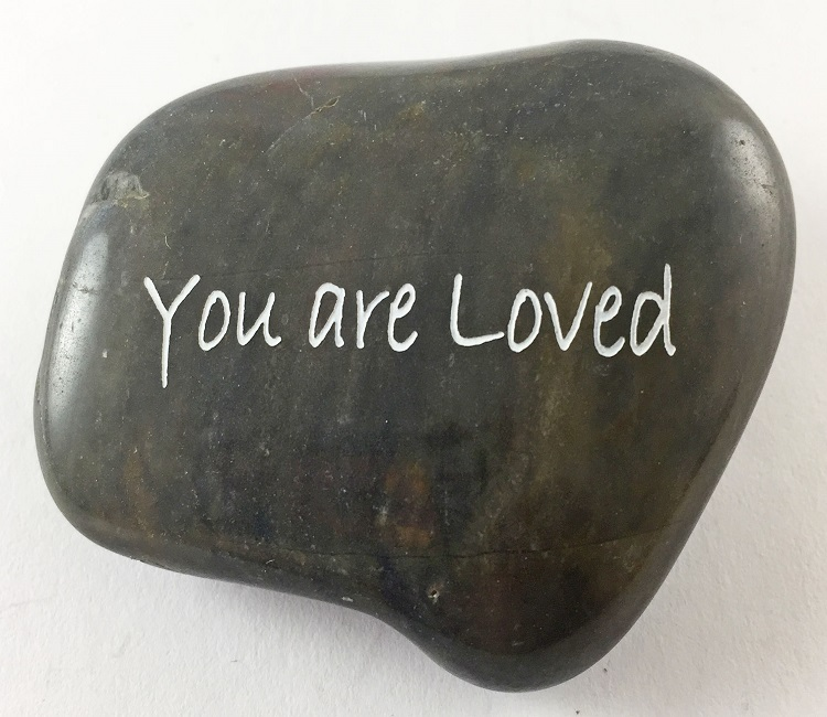 You Are Loved - Engraved River Rock