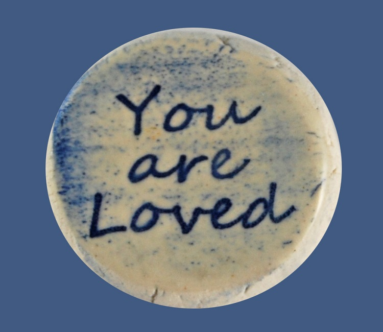 You are Loved - Ceramic Word Stone