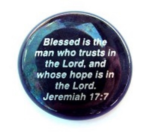 Blessed is the man...Jeremiah 17:7 - Imprinted Scripture Stone