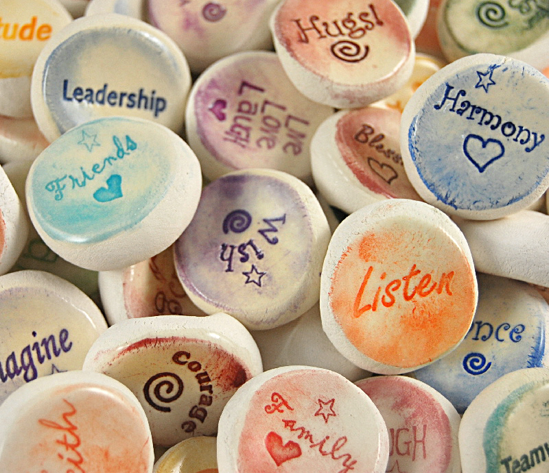 Ceramic Word Stones - CUSTOM DESIGN
