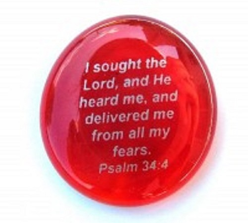 I sought the Lord...Psalm 34:4 - Imprinted Scripture Stone