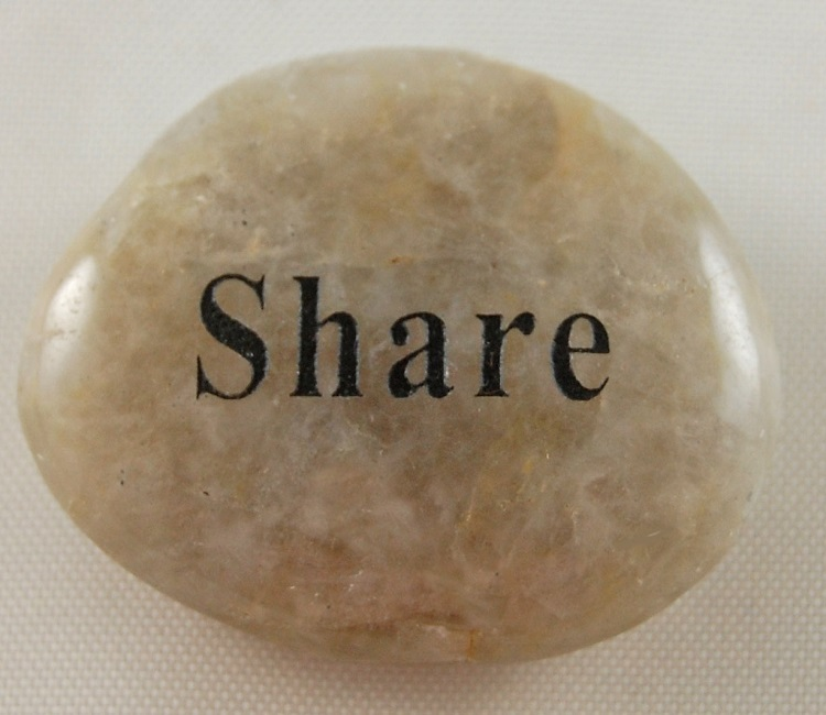 Share - Engraved River Rock
